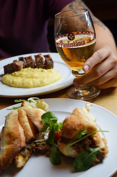 Pratos Bistecca e Cerveja Paulistânia